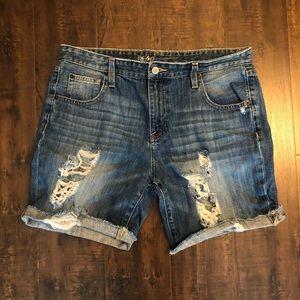 Mossimo | boyfriend distressed shorts